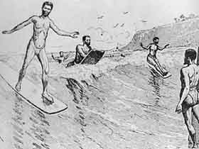 B2, Early Explorers Found 'The Hawaiian Sport of Surf Playing' to Be a National Pastime